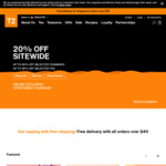 20% off Sitewide at T2