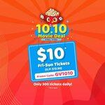 $10 Friday to Sunday movie tickets at Golden Village(U.P. $13.50)