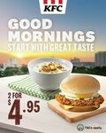 O.R Porridges or Risers with Eggs: 2 for $4.95 at KFC (Before 11am Daily)