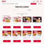 3pcs Chicken and 2x Zinger Burgers for $11 (U.P. $21.35) at KFC Delivery