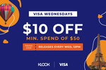 $10 off ($50 Min Spend) at Klook [Visa Cards]