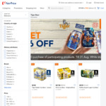 $6 off ($60 Min Spend) on Participating Tiger Beer Products at FairPrice