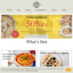 50% off Full Menu at PizzaExpress ($5 Cover Charge Per Person Over 10, Dine-In)