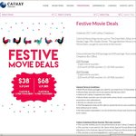 Cathay Cineplexes: 3x Open Movie + 2x $5 F&B Vouchers for $38 (U.P $49) / 5x Open Movie + 4x $5 F&B Vouchers for $68 (U.P $85)
