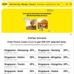 25% Off Selected Fares with Scoot and TigerAir