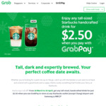 Any Tall-Sized Handcrafted Drink for $2.50 at Starbucks with GrabPay Payments