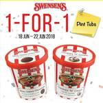 1 for 1 Ice Cream Pint Tubs at Swensen's via App (Monday 18th to Friday 22nd June)
