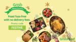 Free Delivery at Festive Restaurants via GrabFood