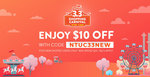 $10 off ($20 Minimum Spend) or 10% off (Capped at $4) at Shopee