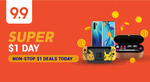 $1 for a $2 or $10 Grab/Cathay Cineplexes/foodpanda Voucher at Shopee
