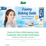 Free Foamy Baking Soda Toothpaste Sample Delivered from Darlie