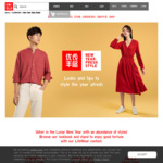 Free Pack of 8 Red Packets with Any Purchase at UNIQLO