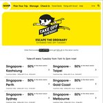 50% off Airfares from Selected Locations at FlyScoot (Return Sector Only)