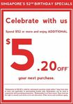 Spend $52 and Receive $5.20 off Your Next Purchase at Sasa