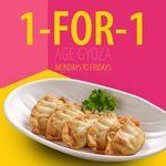 1 for 1 Gyozas ($5) at Sushi Tei [Mondays to Fridays]