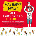 1 for 1 Drinks at LiHo (Telegram Required)