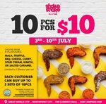 10pcs for $10 at Shake Shake In a Tub