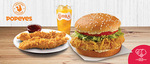 Cajun/Creole Burger, 2pc Tenders & Regular SJORA for $6.90 (U.P. $12.50) at Popeyes