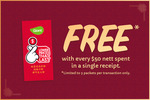Free Red Packets With Every $50 Nett Spend (In A Single Receipt) at Giant [In-Store]