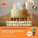 Free MILO Drink at Burger King
