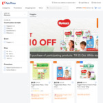 $10 off ($85 Min Spend) on Participating Huggies Products at FairPrice On
