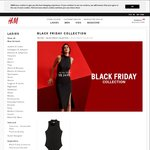 H&M Black Friday - Up to 60% off: Bodysuits $15, Dresses from $20, Tops from $20, Blouses from $20