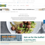 IKEA Family Christmas Buffet Dinner - Free IKEA Voucher ($5 Non Members/$10 Members) with Purchase on 21 December 2018