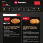 $5 off Regular (Now $15.90) or Large (Now $23.90) Ji Li Crab Pizza at Pizza Hut (OCBC Cards)
