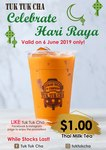 $1 Thai Milk Tea at Tuk Tuk Cha (Facebook/Instagram Required)