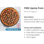 Free Upsize from a Large ($14.90) to an Xtra Large Pizza @ Dominos
