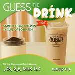 Win 2 Cups of Bober Tea (5 Winners) from Bober Tea