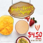 Jingle Berry Mango Drink for $4.50 at Boost Juice Bars