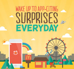 McDonald's Daily Surprise Alarm - Win Free Food, Drinks, Upgrades or 1 for 1 Vouchers + Other Non Food Vouchers