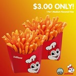 Jollibee Coupons (Valid Weekdays) - $3 1 for 1 Medium Fries, $6.10 Chickenjoy Meal, $6.20 Chickenjoy Spaghetti Meal + More