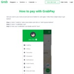 $5 Cashback with Minimum $50 GrabPay Credits Top-Up Using Singtel Dash