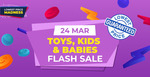 15% off (No Min Spend) or $20 off ($120 Min Spend) on Toys, Kids & Babies at Shopee