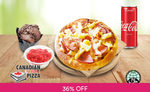 """6"""" Personal Pan Pizza with Side and Drink for 1 Person for $3.90 (U.P. $8.90) at Canadian 2 for 1 Pizza via Fave [New Customers]"""