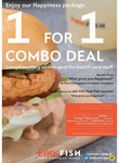 1-for-1 Combo Deal + Free Combo Meals for Healthcare Staff until 31 May (Usual Price $13.90-26.90) @Pink Fish, Jewel #B1-261