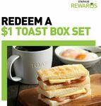 Toast Set for $1 at Toast Box (StarHub Rewards)