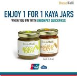 BreadTalk - get 1 for 1 Kaya Jars When you Pay with UnionPay QuickPass ($3.30 for 2)
