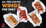 All You Can Eat Wings for $15 at Chicken Up via HungryGoWhere (Maximum 2 Hour Sitting)