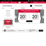 Sephora: 20% off for Gold & Black Card Members