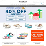 40% off Sitewide Plus Free Shipping (No Minimum Spend) at Crocs
