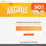Klook INSANE Food Deals - 100%, 90%, 50%, or 30% off