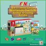 Win 1 of 4 Limited Edition Nintendo Switch Animal Crossing Bundles at 7-Eleven