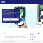 Win $888 (24 Winners, 8 Monthly) from Visa/Google - Use Google Pay with Linked Visa Card on Public Transport