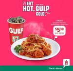 7-Select Spaghetti Chicken Bolognaise & Gulp 16oz for $5.30 (U.p. $5.90) + Further $1 off with Visa at 7-Eleven