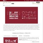$12 off at MUJI ($100 Minimum Spend)