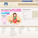 Get Three Free Issues of Livewell Baby Magazine and a Baby Romper (with Cryoviva Branding) Free