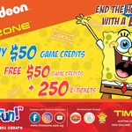 $100 Game Credits + 250 E-Tickets for $50 at Timezone